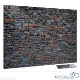 Tableau Ambiance Muret de pierre 45x60 cm