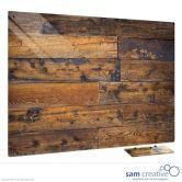 Tableau Ambiance Vieille clôture en bois 45x60 cm