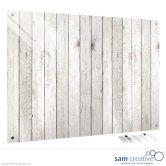 Tableau Ambiance Clôture en bois clair 45x60 cm